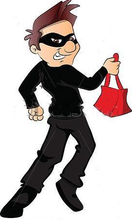 Resultado de imagem para imagem, desenho, ladrão furtou bolsa do carro