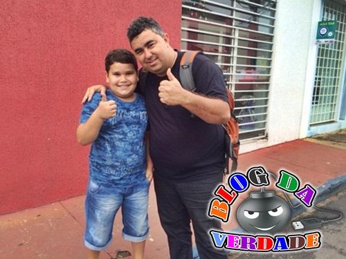 Luiz Cláudio com um Fã
