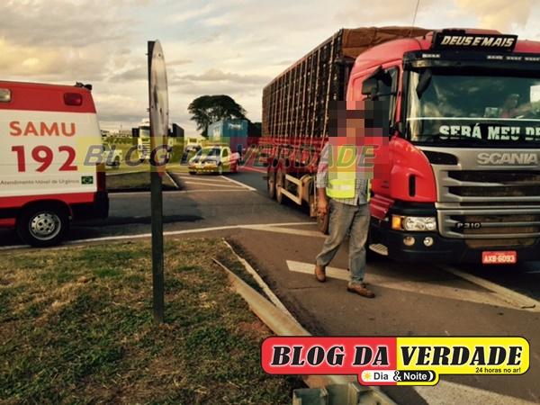 Moto x Caminhão BR 050 (2)